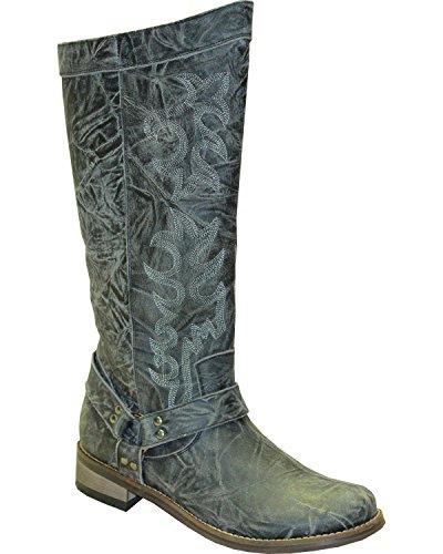 Abilene Mujeres Rawhide Por 12 Tall Side Zipper Arnés Bota Round Toe - 5910 Gris