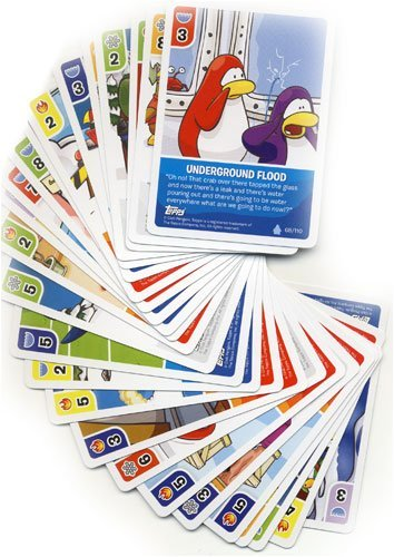 Topps Club Penguin Trading Card Game Lot of 25 Random Single Cards Plus 1 Bonus Foil Power Card! (Total of 26 Cards!)
