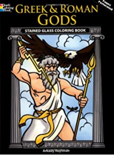 Greek And Roman Gods Stained Glass Coloring Book Dover