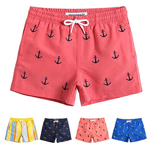 MaaMgic Boys Cute Anchor Swim Trunks 5T 6T Toddler Swim Shorts Little Boys Bathing Suit Swimsuit Toddler Boy Swimwear
