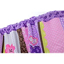 Purple Baby Girls Crib Bedding Window Valance by HESEAM