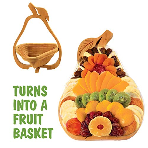 Dried Fruit Gift Basket - Healthy Gourmet Snack Box - Holiday Food Tray - Father's Day, Variety Snacks - Great for Birthday, Sympathy, Christmas, or as a Corporate Tray