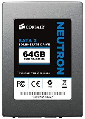 Corsair Neutron Series 64GB 6Gbps SATA 3 Exclusive LAMD LM87800 2.5-Inch Synchronous Solid State Drive CSSD-N64GB3-BK
