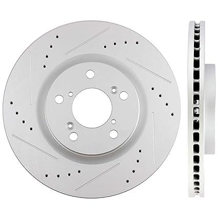 2012 2013 Honda Civic w//Rear Disc Rotors Metallic Pads R OE Replacement