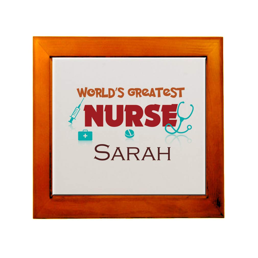 Amazon.com: Personalized Custom Text Worlds Greatest Nurse ...
