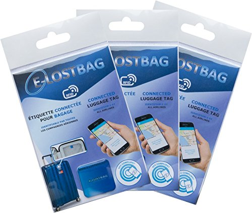 E-lostbag.Pack of 5 Electronic Chip System For Luggage- RFID/NFC - identifiable by All Airlines