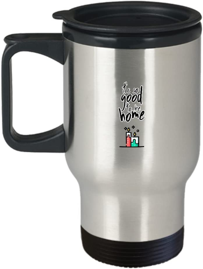 It's so good to be home minimalist coffee stainless steel travel mug