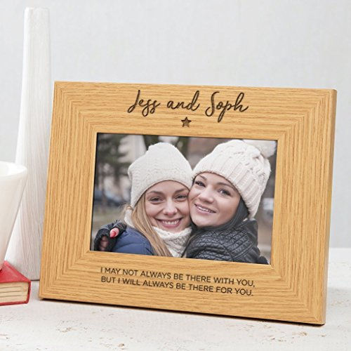 (Personalized Best Friend Photo Frame - Best Friend Gifts for Girls Women - Bff Wooden Engraved Picture Frame - 6x4 7x5 8x6)