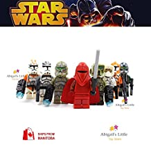 ABG toys Minifigures STAR WARS Bomb Squad Trooper, Commander Gree, 41st Elite Corps Trooper, 41st Kashyyyk Clone Trooper, Wolf pack Clone Trooper, Scout trooper, 212th Battalion Trooper, Royal Guard Series Building Blocks Sets Toy Compatible With Lego (No box, no card)