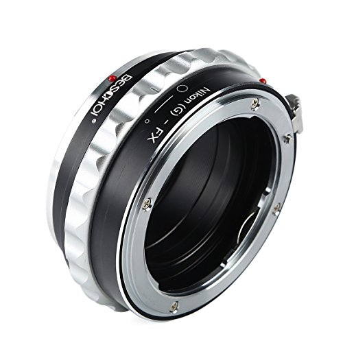 Beschoi Lens Mount Adapter for Nikon F Mount Nikkor G-Type D/SLR Lens to Fujifilm FX Mount X-Series Camera Body, Fits Fuji X-Pro1 X-Pro2 X-E1 X-E2 X-M1 X-A1 X-A2 X-A3 X-A10 X-M1 X-T1 X-T2 X-T20 X30 (X Adapter Fuji Nikon)
