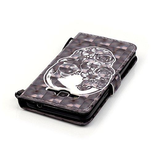 ANNNWZZD Samsung Galaxy J5 2015 Funda Flip Wallet Case Cover Carcasa PU de Cuero Billetera Soporte Stand con Ranuras Tarjetas Cierre Magnético para Samsung Galaxy J5 2015,A11 A03