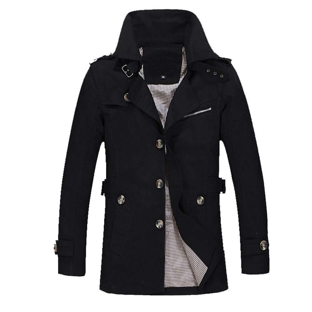 Mens Overcoat for Men Winter Warm Overcoat Slim Long Trench Buttons Coat,Suit Jacket