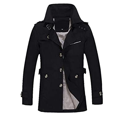 Clearance Sale,WUAI Mens Lightweight Jackets Warm Outdoors Slim Fit Plus Size Trench Buttons Coat