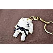 Karate Gi Uniform Sports 3D Leather Keychain(L) VANCA Craft-Collectible Keyring Charm Pendant Made in Japan