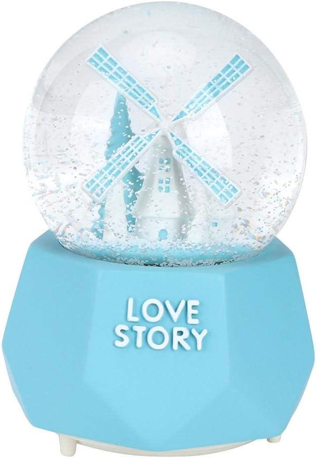 #1 Wifehelper Caja de m/úsica Bola de Cristal innovadora Caja de m/úsica de Nieve Juguete para ni/ños Regalo de cumplea/ños Adorno para el hogar