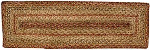- Homespice Rectangular Table Runner Jute Braided Rugs, 11-Inch by 36-Inch, Harvest