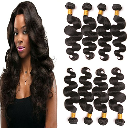 Daiweier 4 Bundles Brazilian Body Wave Sale Natural 1b Virgin Human Hair Weft 14 16 18 20 Inches 8a Hair Quality Next Day Delivery Natural Brown For Braiding