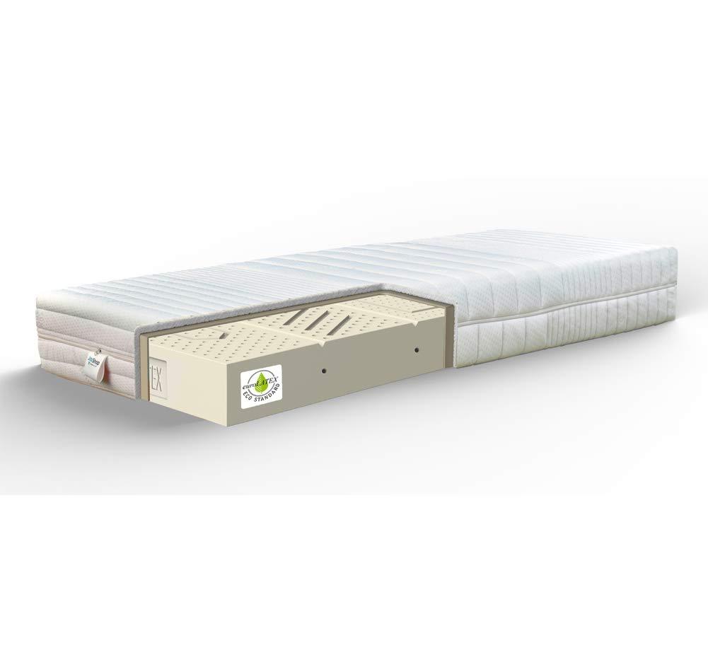 Materassi In Lattice Naturale 100 Prezzo.Latex H22 Materasso H22 Cm Sfoderabile 100 Lattice 7 Zone Tessuto