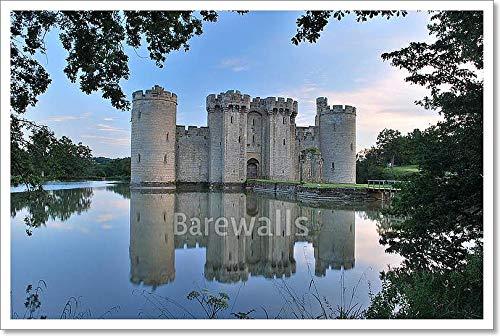Barewalls Bodiam Castle Inイーストサセックス用紙印刷壁アート 16in. x 24in. 16in. x 24in.  B07BZR9YRD