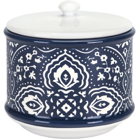 Better Homes and Gardens Indigo Arabesque Covered Jar