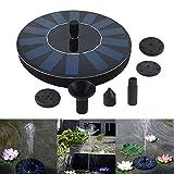 Ywillink 7V 1.4W 200L/H Solar Power Birdbath Water Floating Fountain Water Pump Pool Garden Outdoor Decor