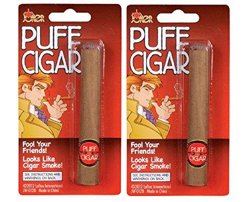 - Loftus International Joker Large Fake Puff Cigar Costume, One Size, Brown - Pack of 2