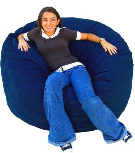Cozy Sack 4-Feet Bean Bag Chair, Large, Navy - 4 Feet Bean Bag