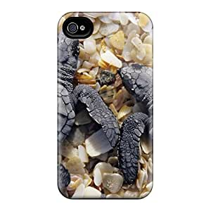 Scotansen Scratch-free Phone Case For Iphone 4/4s- Retail Packaging - Two Small Turtles