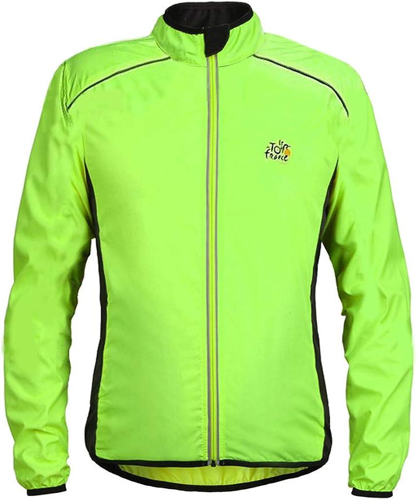 WINJUD Outwear Men, Lightweight Windbreaker Bicycle Cycling Sport Jacket