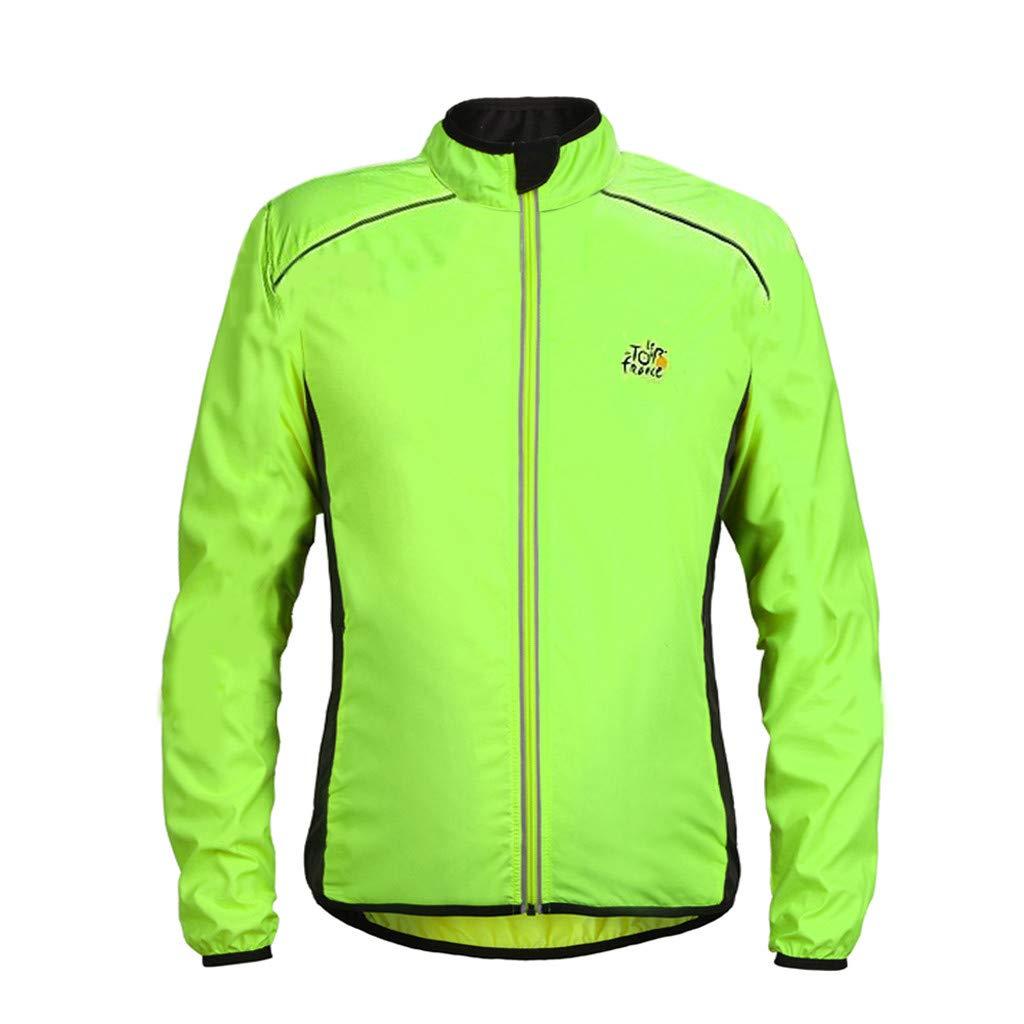 Unisex Cycling Skin Coat Jersey Bicycle Windproof Jacket Light Rain Coat Orange