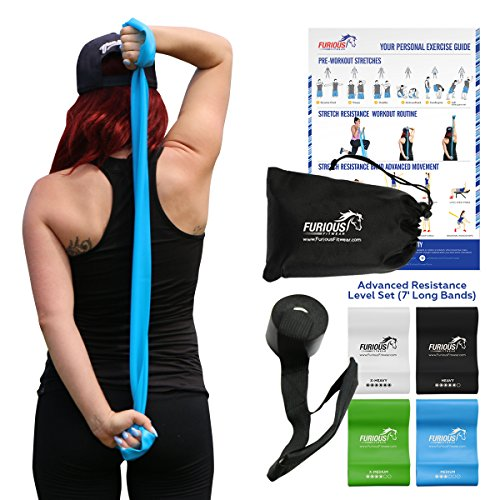 Furious Fitwear Stretch Resistance Bands Set for Daily Stretching Exercises