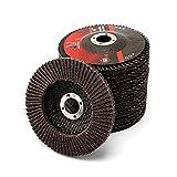 10Pcs 4''x5/8'' Premium High Density Calcined Aluminum Oxide Flap Disc 60 Grit