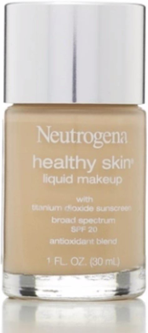 Neutrogena Healthy Skin Liquid Makeup Foundation, Broad Spectrum Spf 20, 20 Natural Ivory, 1 Oz. (Pack of 2)