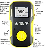 Carbon Monoxide CO Meter by FORENSICS & BOSEAN | Professional Precision Series | Water, Dust & Explosion Proof | USB Recharge | Sound, Light and Vibration Alarms | 0-1000 ppm |