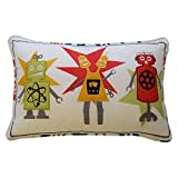 Waverly Kids Robotic Embroidered Decorative Accessory Pillow, 12'' x 18'' - (Original from manufacturer - Bulk Discount available)