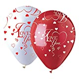 CTI latex balloons 950017 All-Round I Love You, 12'', Multicolored