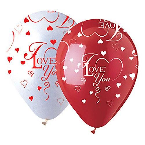 CTI latex balloons 950017 All-Round I Love You, 12'', Multicolored