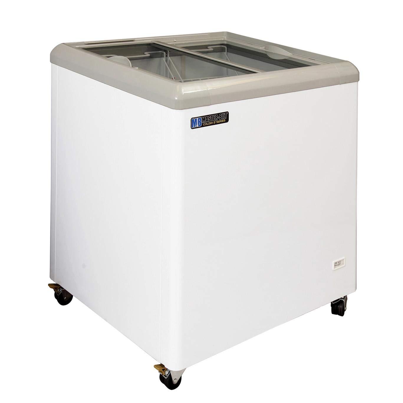"COLDIN-3 7.5 Cubic Ft Flat Glass Display Freezer 31"" W"