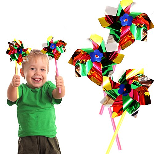 Toy Cubby Amazing Party, Beach and Backyard Pinwheels - 12 p