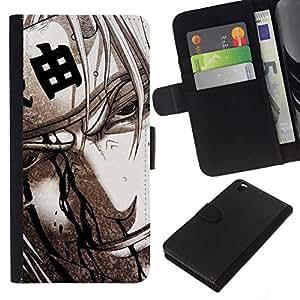 All Phone Most Case / Oferta Especial Cáscara Funda de cuero Monedero Cubierta de proteccion Caso / Wallet Case for HTC DESIRE 816 // Japanese Warrior