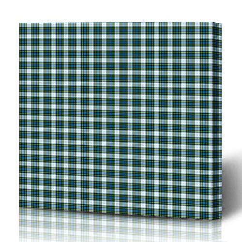 - Ahawoso Canvas Prints Wall Art 12x16 Inches Plaid Blue Patterned Clan Campbell Dress Garment Abstract Green Pattern Tartan Scotland Ancient Black Decor for Living Room Office Bedroom