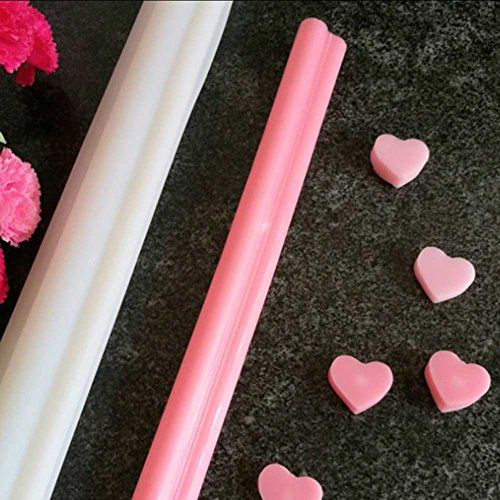 Heart Round Silicone Tube Column Mold DIY Candle Soap Mould Templet Hand Craft - Heart Round