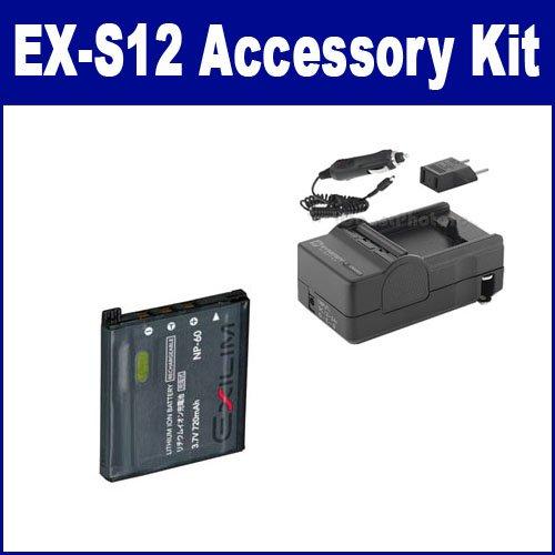 Casio Exilim EX-S12 Digital Camera Accessory Kit includes: SDCANP60 Battery, SDM-190 Charger