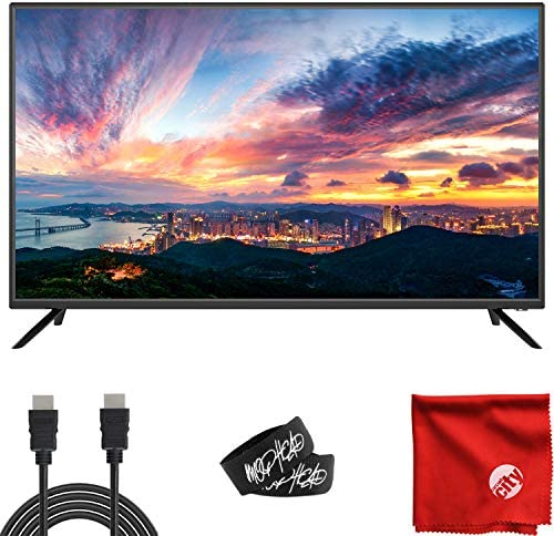 Sansui 40-Inch 1080p FHD DLED Smart TV (S40P28FN) Slim Ultra-Light Bezel Built-in with HDMI, USB, High Resolution, Dolby Audio Bundle with Circuit City 6-Feet 4K HDMI Cable and Accessories