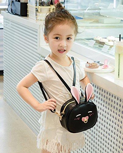 Borsa Le Messenger Felice Nera Bandorela Con Bag Bella Decorazione Orecchie Bianco Bambina Ciliegio qYwHxntB