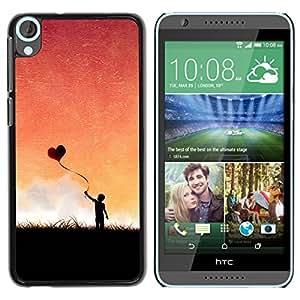 iKiki Tech / Estuche rígido - Globo del corazón del amor - HTC Desire 820