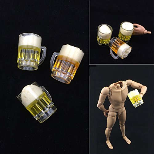 [3pc HOT FIGURE TOY 1/6 Beer glass Scene necessary Two color Randomly send] (4 Star Dragonball Costume Color)