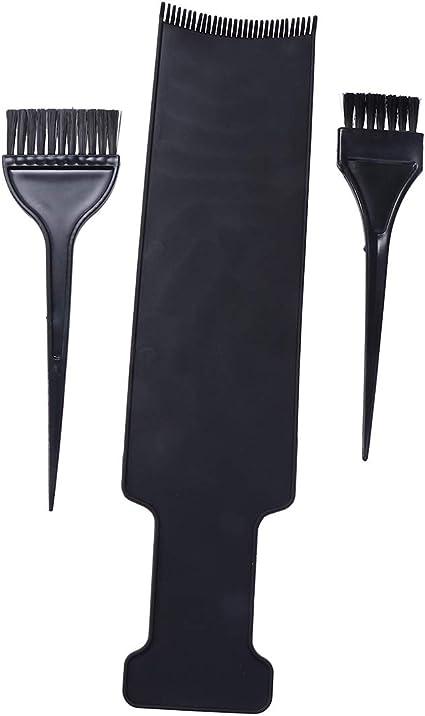 Lurrose Tablero de paleta de peluquero con cepillo para herramientas para teñir el cabello Balayage