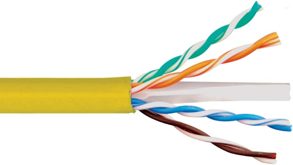 ICC 600MHz CAT6e Bulk Cable with 23 AWG UTP Solid Wires CMR Jacket in a Pull Box 1000 Feet in Green