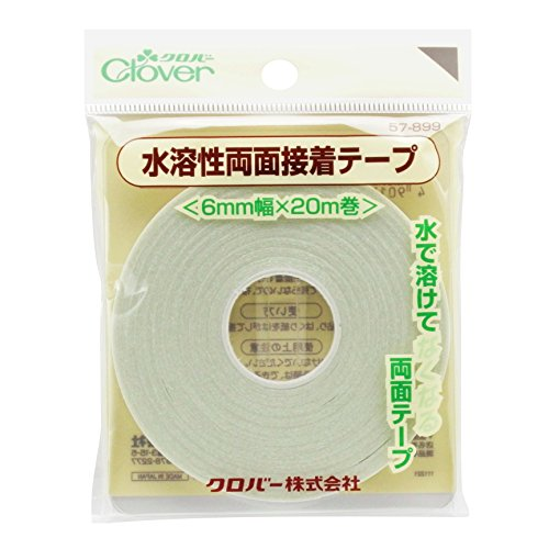 Clover water soluble double-sided adhesive tape 6mm (japan import)